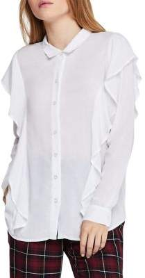 BCBGeneration Ruffled Button-Down Shirt