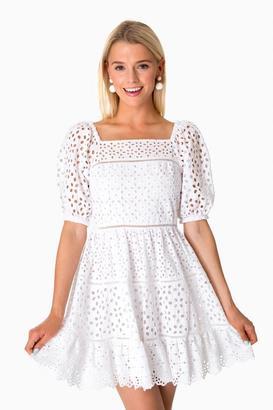 Rebecca Taylor Amora Eyelet Dress $550 thestylecure.com