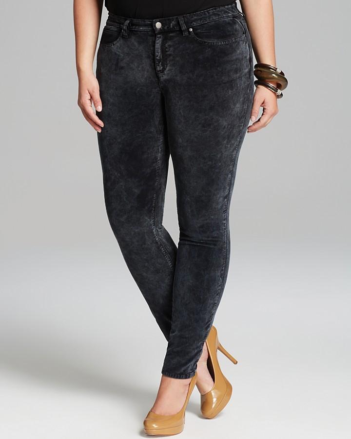 Eileen Fisher Plus Velveteen Skinny Jeans