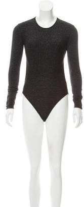 Cushnie et Ochs Lurex Long Sleeve Bodysuit