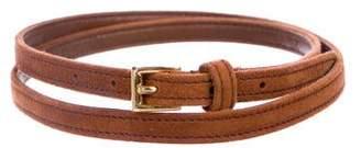 Prada Thin Suede Waist Belt