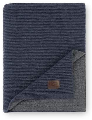 "UGG Horizontal Rib Wool Blend Throw - Fawn/Doeskin - 50\""x70\"""