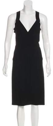 Narciso Rodriguez Cutout-Accented Midi Dress