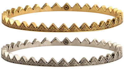 House Of Harlow Engraved Triangle Bangle Set