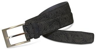 Robert Graham Villa Borghese Paisley Embossed Leather Belt $98 thestylecure.com