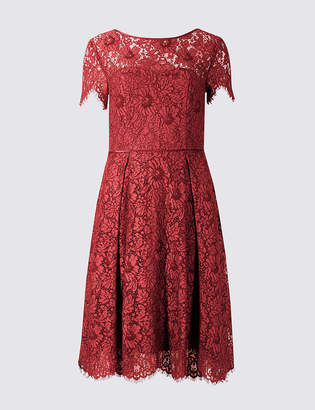 Marks and Spencer Cotton Blend Lace Swing Dress