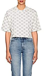 "Ksubi Women's ""Fake"" Cotton Crop T-Shirt - White"