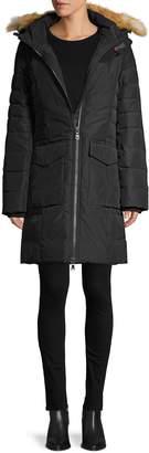 Pajar Layla Quilted Fox Fur Trim Down Coat