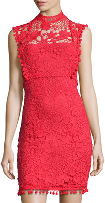 Willow & Clay Mock-Neck Lace Mini Dress $85 thestylecure.com