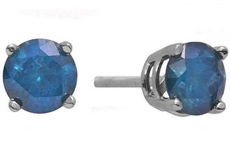 JCPenney FINE JEWELRY 2 CT. T.W. Color-Enhanced Blue Diamond Stud Earrings