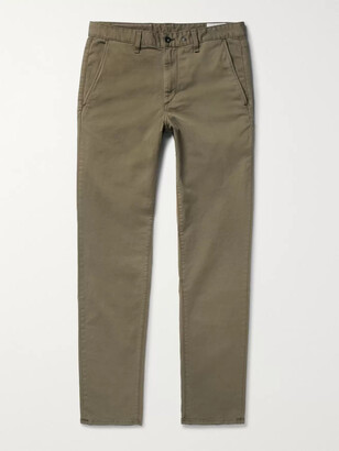 Rag & Bone Fit 2 Slim-Fit Garment-Dyed Stretch-Cotton Twill Chinos