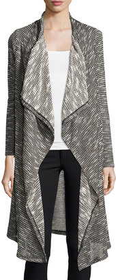 Bobeau Textured Waterfall Duster Cardigan, Gray $49 thestylecure.com