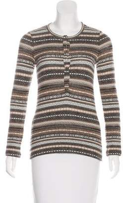 L'Agence Knit Patterned Top