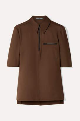 Kwaidan Editions Stretch-twill Shirt - Dark brown