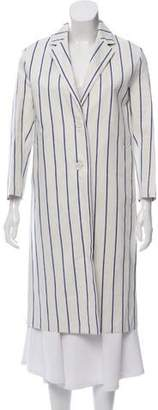 MACKINTOSH Long Striped Linen Coat