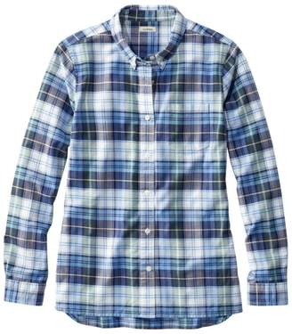 L.L. Bean L.L.Bean Women's Organic Cotton Button-Front Shirt, Long-Sleeve Plaid