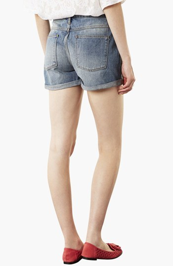 Topshop Moto 'Dirty Boy' Distressed Denim Shorts