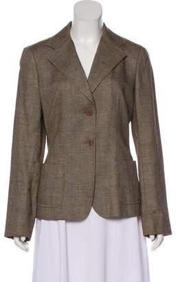 Max Mara Tweed Button-Up Blazer