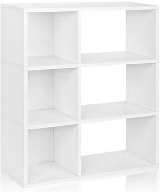 Way Basics Eco Sutton 3-Shelf Bookcase Cubby Bookshelf, Non Toxic Z-Board