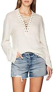 IRO Women's Alety Linen Lace-Up T-Shirt - Ivorybone Size M