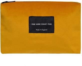 ONE NINE EIGHT FIVE - Ochre Velvet Zip Pouch Small