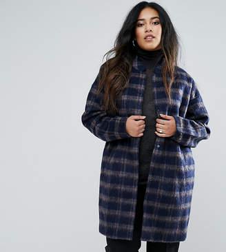 Junarose Plus Coat In Check With Belt