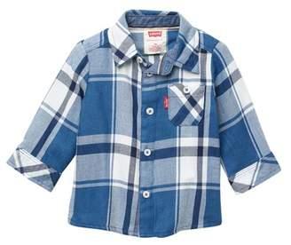 Levi's Long Sleeve Woven Plaid Shirt (Baby Boys)