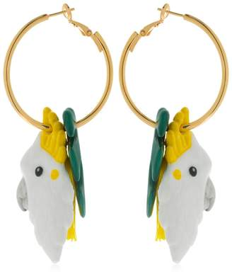 Nach Palm & Cockatoo Pendant Earrings