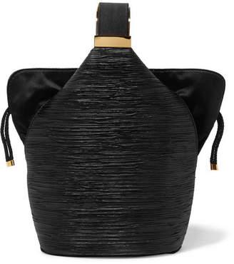 Bienen-Davis - Kit Mini Satin-trimmed Lurex Bucket Bag - Black