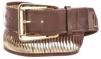 Michael Kors Metallic-Accented Leather Belt