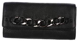 MICHAEL Michael Kors Chain-Link Embellished Leather Clutch