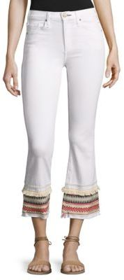McGuire Ambrosio Gainsbourg Cropped Bootcut Jeans $258 thestylecure.com