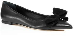 Tory Burch Women's Rosalind Pointed Toe Leather Flats