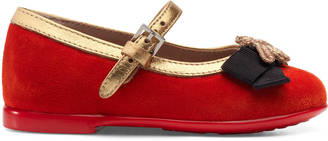 Toddler suede ballet flat with bee $395 thestylecure.com