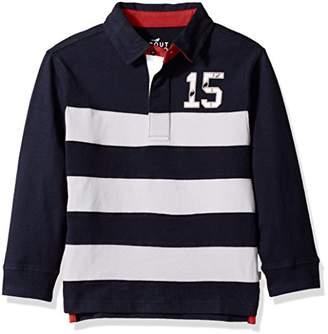 Scout + Ro Big Boys' Long-Sleeve Stripe Rugby Shirt