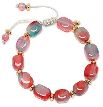 Lola Rose Women Multicolour Coral Agate Strand Bracelet of Length 18cm 693837