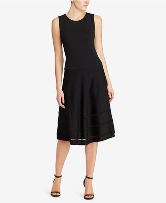 Lauren Ralph Lauren Fit & Flare Knit Dress $175 thestylecure.com