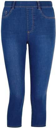 72a1e0cd6549b Dorothy Perkins Womens Petite Blue 'Eden' Super Soft Cropped Jeggings