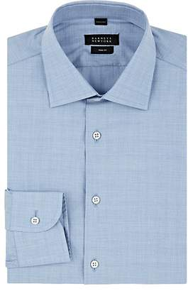 Barneys New York Men's End-On-End Effect Cotton Poplin Shirt