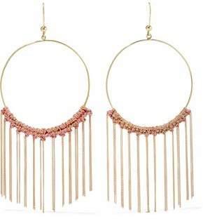 Carolina Bucci 18-Karat Gold And Cord Tasseled Earrings