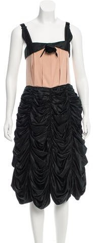 Marc JacobsMarc Jacobs Ruched Silk Dress w/ Tags