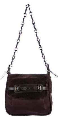 Marni Satin & Suede Shoulder Bag