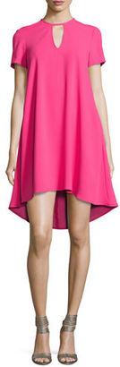 Trina Turk Floramaria Crepe Keyhole Swing Dress $258 thestylecure.com