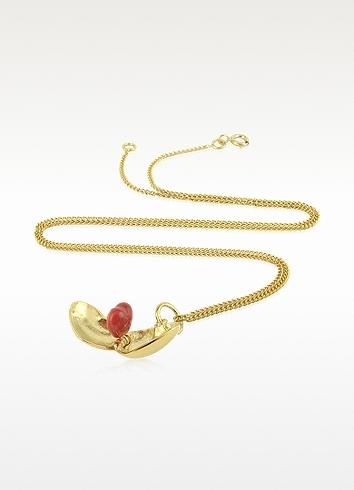 Les Nereides Amour - Heart Shape Silver Vermeil Necklace