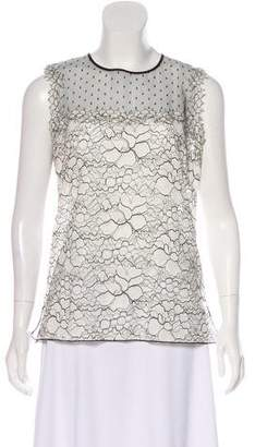Andrew Gn Sleeveless Lace Top