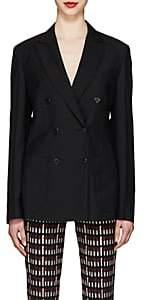Prada Women's Wool-Mohair Double-Breasted Blazer - Black