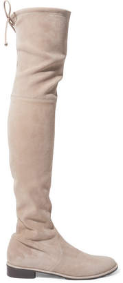 Stuart Weitzman Lowland Suede Over-the-knee Boots - Beige