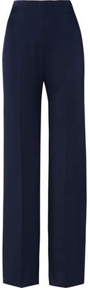 Jenny Packham Satin Wide-leg Pants - Midnight blue