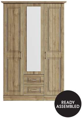 Consort Furniture Limited Dorchester 3 Door, 2 Drawer Mirrored Wardrobe