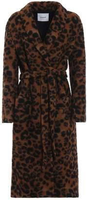 Dondup Animal Print Long Coat